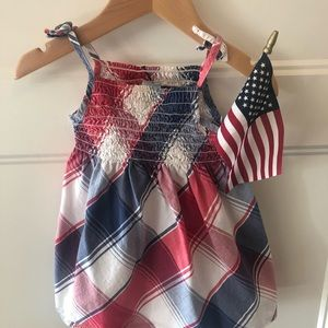 Old Navy Smocked 4th of July Dress size 6 - 12 mo
